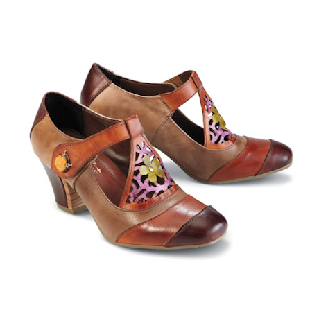 Jardin Painted Leather Mary Jane Shoe
