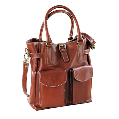Trija Leather Shoulder Bag
