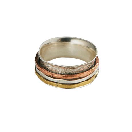 Multi-Metal Spinner Ring