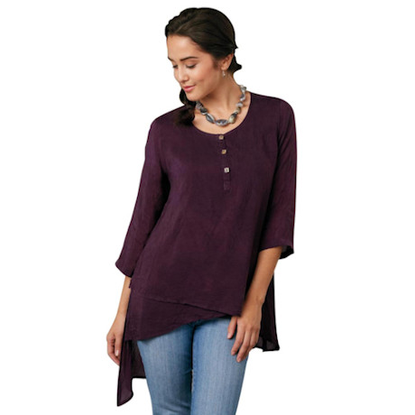 High-Low Cupro Tunic