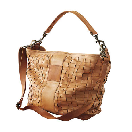 Cicily Woven Leather Handbag