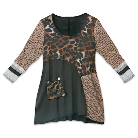 Riverstone Patchwork Tunic Top