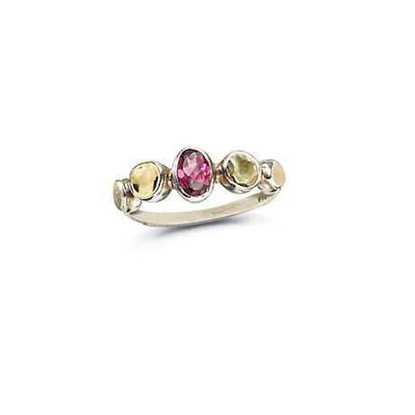 Garnet Grove Two-Toned Ring