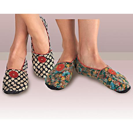 Bettina Fleece Travel Slippers