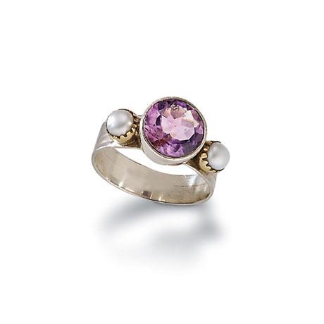 Marais Amethyst & Pearl Ring