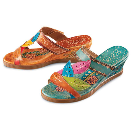 Fiore Hand Painted Leather Sandals