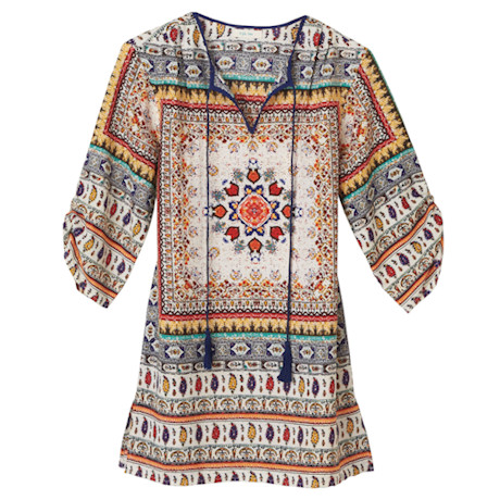 Marrakech Tassel Tie Tunic Top