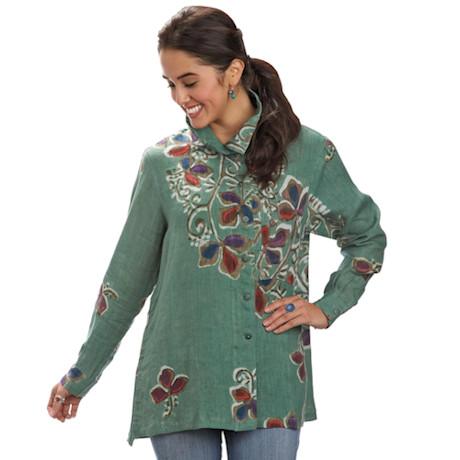 Matiz Batik Linen Tunic Top