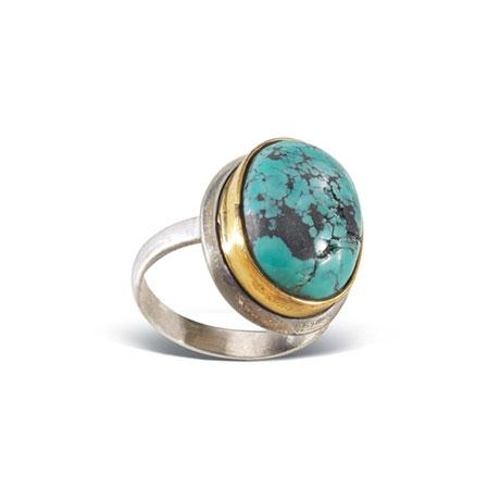 Giada Oval Turquoise Ring