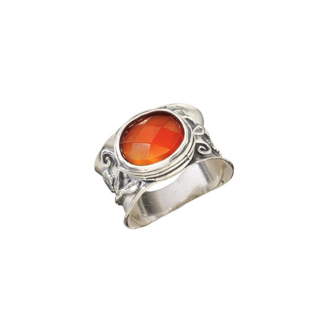 Tsarina Wide Carnelian Ring