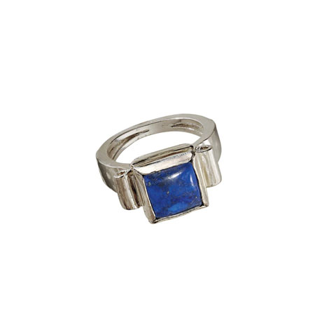 Midnight Lapis Bezel Ring