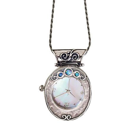 Sterling & Opal Watch Pendant