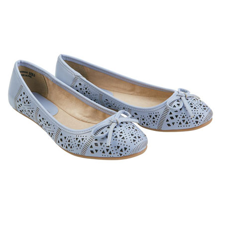 Hannah Perforated Ballet Flats