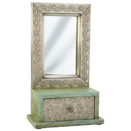 Mini Vanity Mirror Box