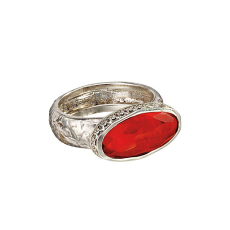 Ellipse Carnelian Ring