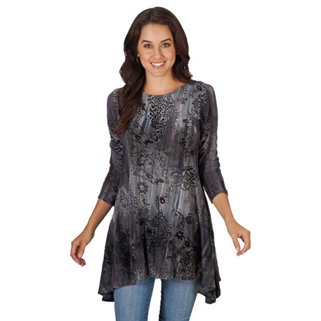 Amani Burnout Tunic Top