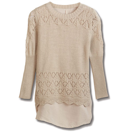 Meg Layered Sweater Tunic Top