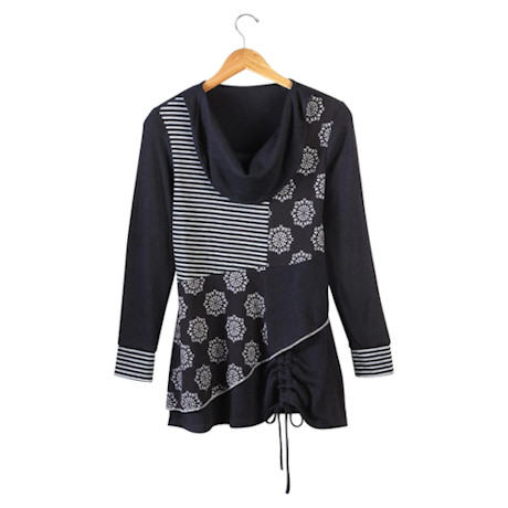 Noir & Blanc Tunic Top