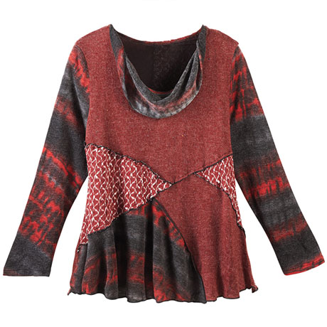 Mohave Patched Tunic Top