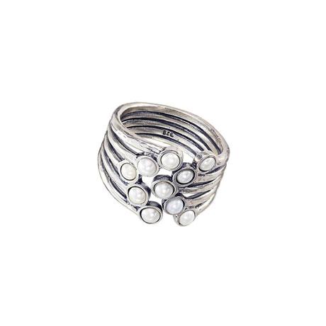 Pearl Peacock Ring
