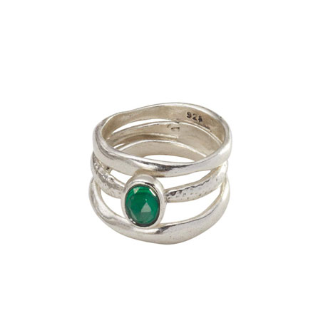 Stacking Aventurine Rings