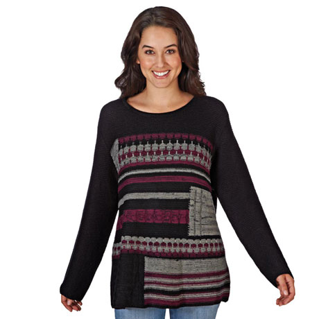 Orchid Interweave Sweater