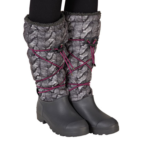 Cable Knit Printed Boots