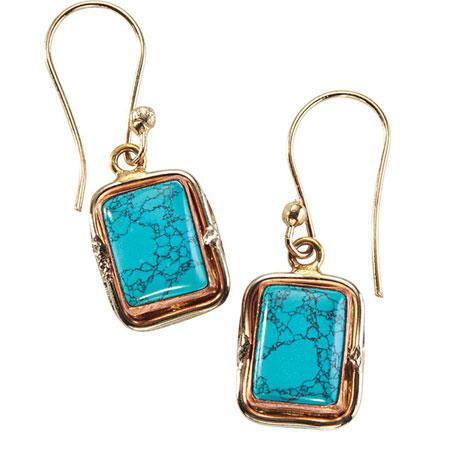 Quadra Turquoise Earrings
