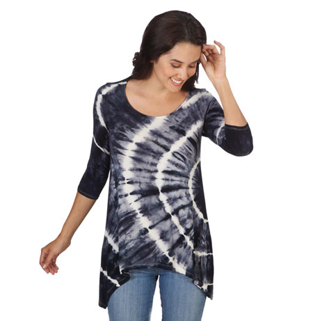 Tie Dye Sharkbite Tunic Top