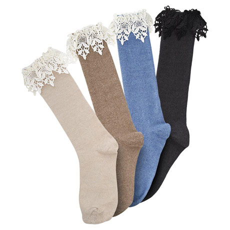 Fancy-Top Boot Socks
