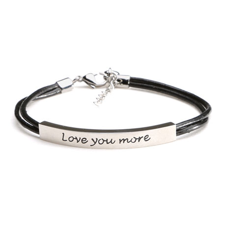 Love You More Bracelet - Stainless Steel