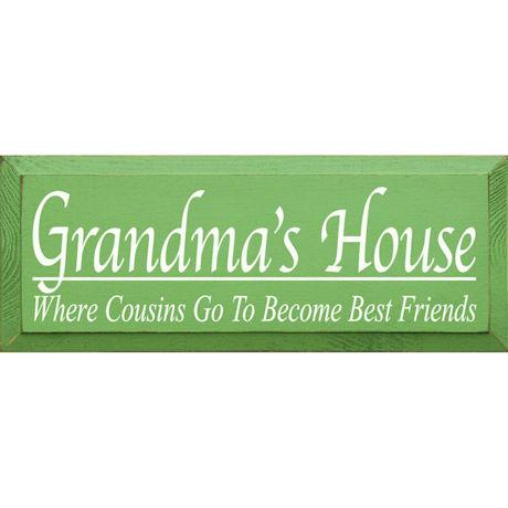 Grandmas House Plaque