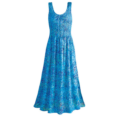 Batik Sundress Caribbean Waves