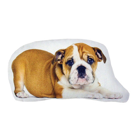 Plump Puppy Cutout Pillow