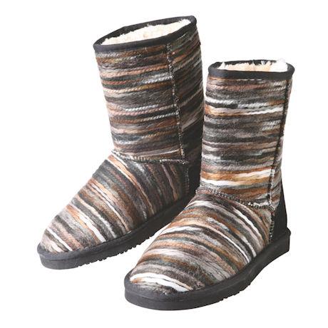 Smokey Stripe Fleece Lined Boot