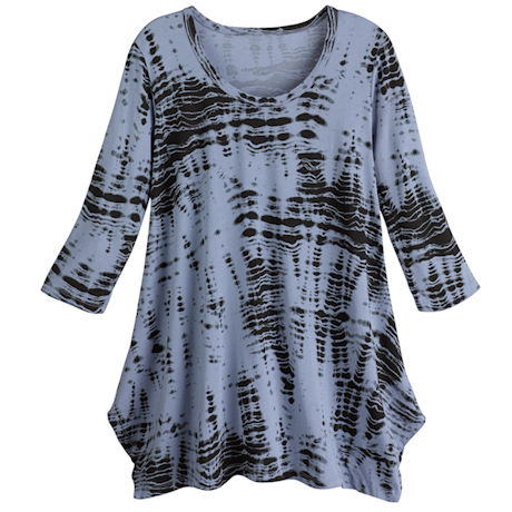 Tie-Dyed A-Line Tunic Top