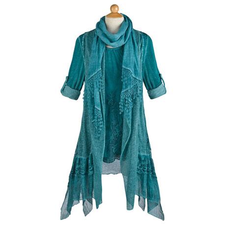 Vested Lace 3-Pc. Set