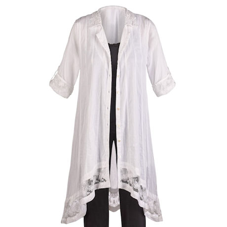 Dove Lace Duster