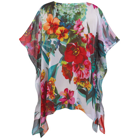 Lacey Blooms Poncho