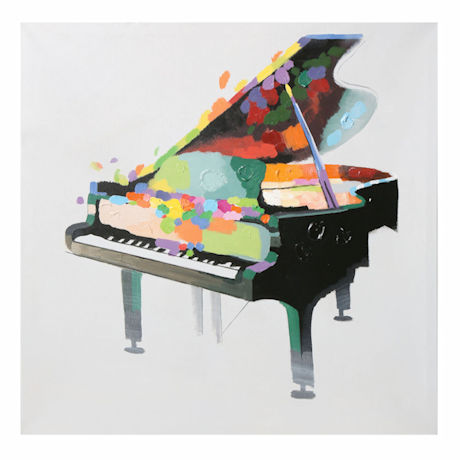 Grand Piano Stretched Canvas