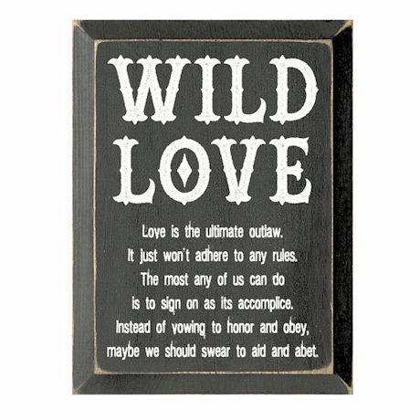 Wild Love Plaque