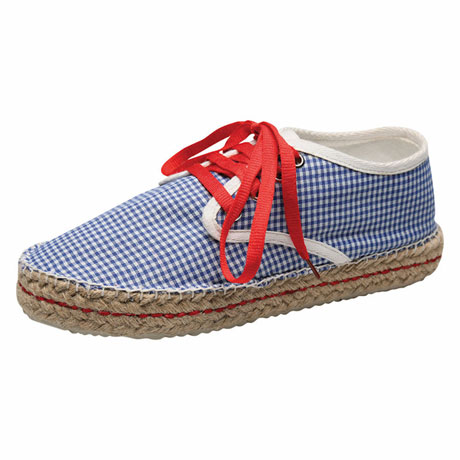 Check Canvas Espadrille