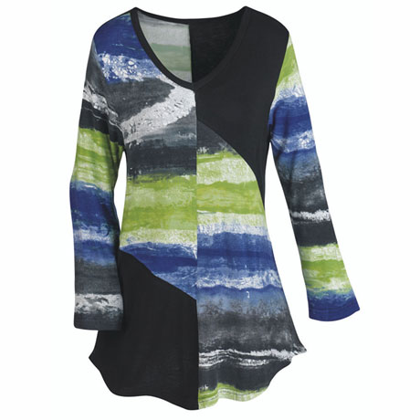 Mirage Of Color Tunic Top