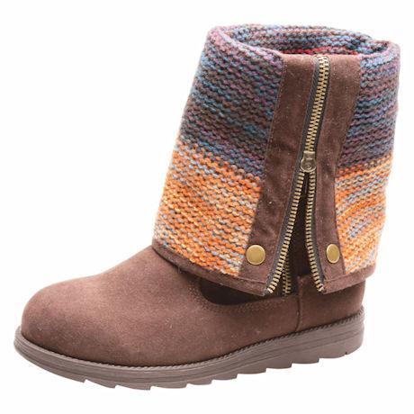Autumn Sunset Roll-Cuff Boot