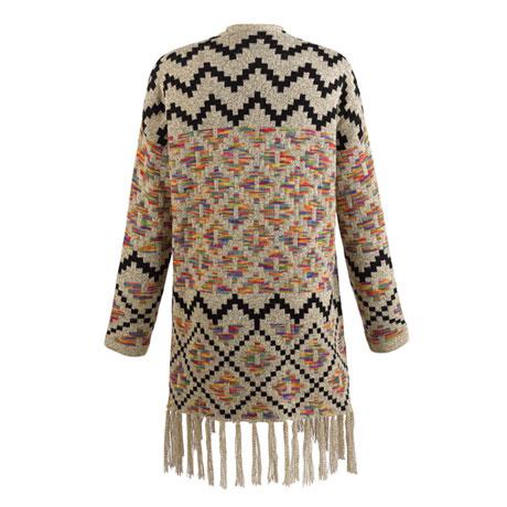 Puzzle Print Sweater Jacket