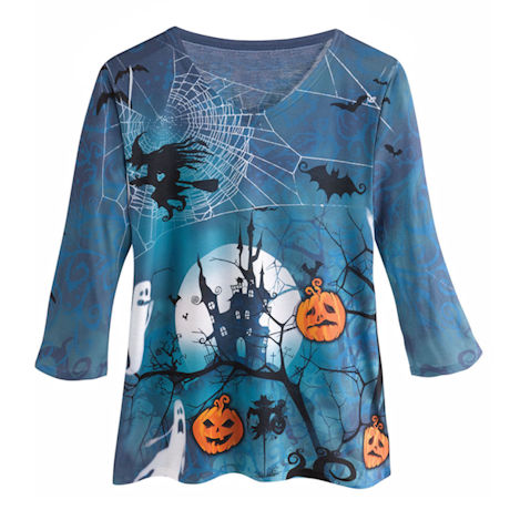 Spooky Halloween V-Neck Tee