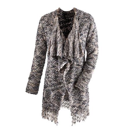 Cozy Sweater Fringe Jacket