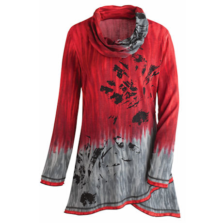 Red Sky Cowl Tunic Top