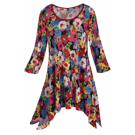Garden Of Flowers Tunic Top