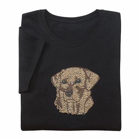 Rhinestone Dog Ladies T-Shirts